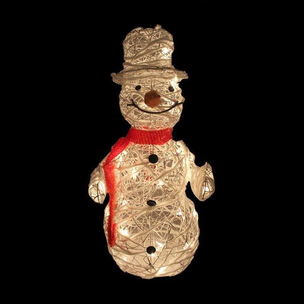 Rattan Trumpeting Snowman Christmas Decoration by Northlight Seasonal