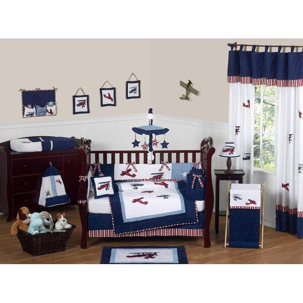 Vintage Aviator 9 Piece Crib Bedding Set (Set of 9) by Sweet Jojo Designs