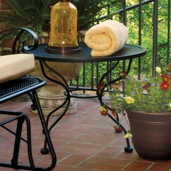 Urias Metal Side Table by Fleur De Lis Living