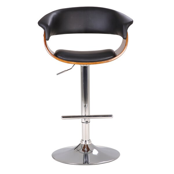 Hamner Modern Adjustable Height Swivel Bar Stool by Orren Ellis