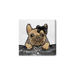 'Glam Frenchie' Graphic Art Print on Wrapped Canvas by Mercer41