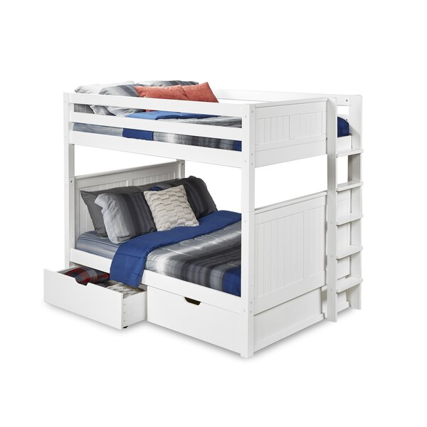 Oakwood Full over Full Bunk Bed with Drawers by Harriet Bee