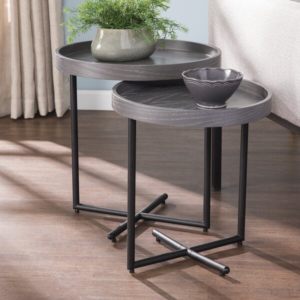 Twitchell 2 Piece Cross Legs Nesting Tables By Ivy Bronx