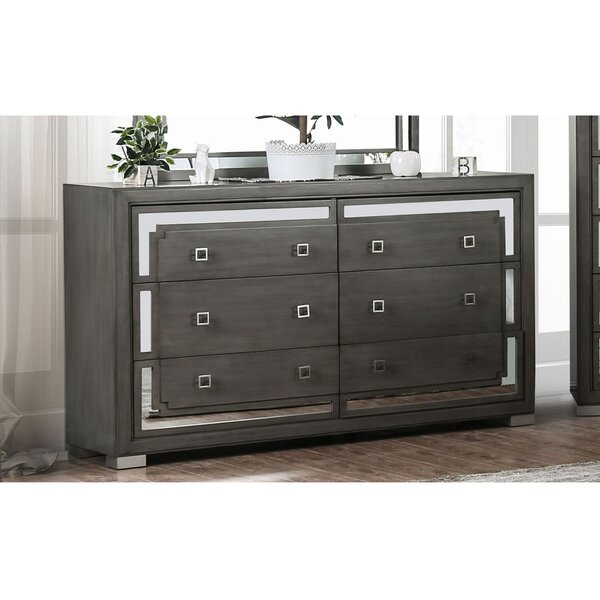 Angelita 6 Drawer Double Dresser by Everly Quinn