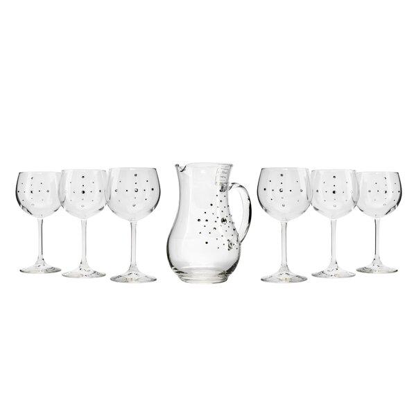 Le Monde Cadeaux 7 Piece Le Monde Cadeaux Decanter and Wine Glasses Set by Promaster Gifts