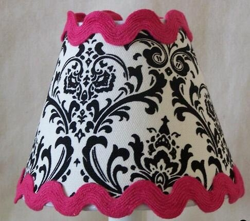 Classy Damask 11 Fabric Empire Lamp Shade by Silly Bear Lighting