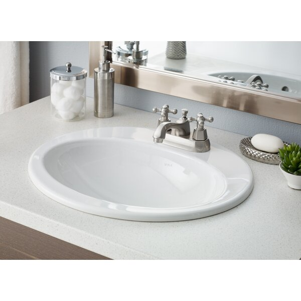 Aria Vitreous China Oval Drop-In Bathroom Sink with Overflow by Cheviot Products