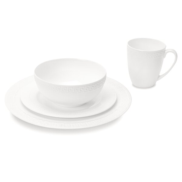 Capitol Classic Round Rim 32 Piece Bone China Dinnerware Set, Service for 8 by Mercer41