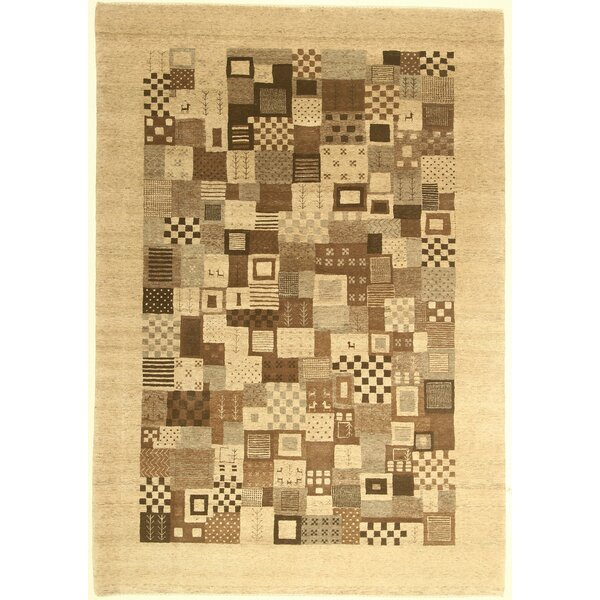 One-of-a-Kind Coralie Hand-Knotted Wool Ivory Area Rug by Isabelline