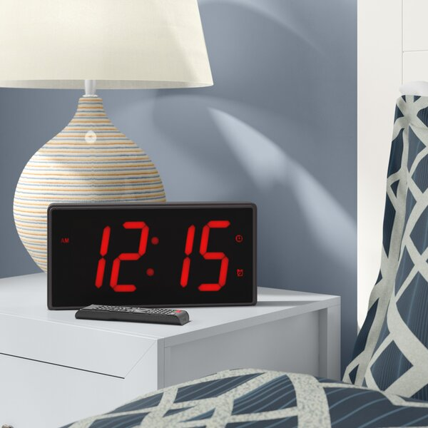 Jumbo 4 Numbers LED Alarm Clock with Remote by East Urban Home