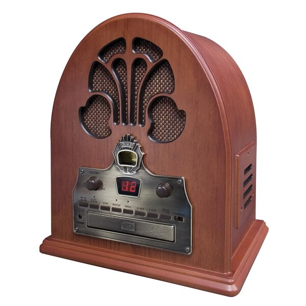 Old-fashioned Cathedral in Paprika CD / Radio by Crosley Electronics