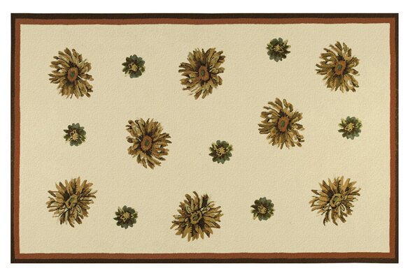 Williams Hand-Hooked Ivory Indoor/Outdoor Area Rug by Threadbind