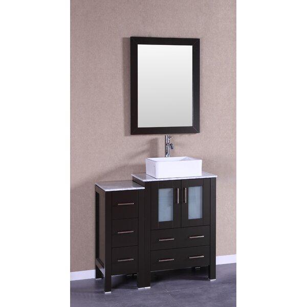 Cambria Greenwich 36 Single Bathroom Vanity Set with Mirror by Bosconi