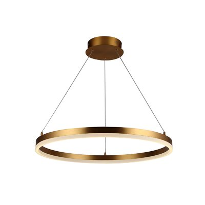 Everly Quinn Munch 1 Light Unique Statement Cone Led Pendant Everly Quinn Size 1 6 H X 23 6 W X 1 D Finish Gold From Wayfair North America Shefinds