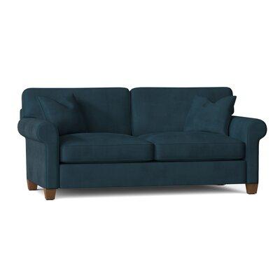 "Carey 88"""" Rolled Arm Sofa Bed Body Fabric: Tina Gulfstream -  BirchLane, 25821FF61E1B4BCBA05278A42A73B9A0"