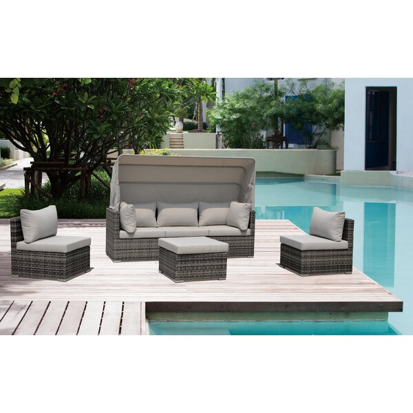Strawser 4 Piece Courtyard Casual Daybed Set With Cushions By Brayden Studio