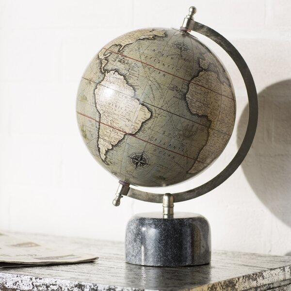 Globe with Marble Base by Trent Austin Design