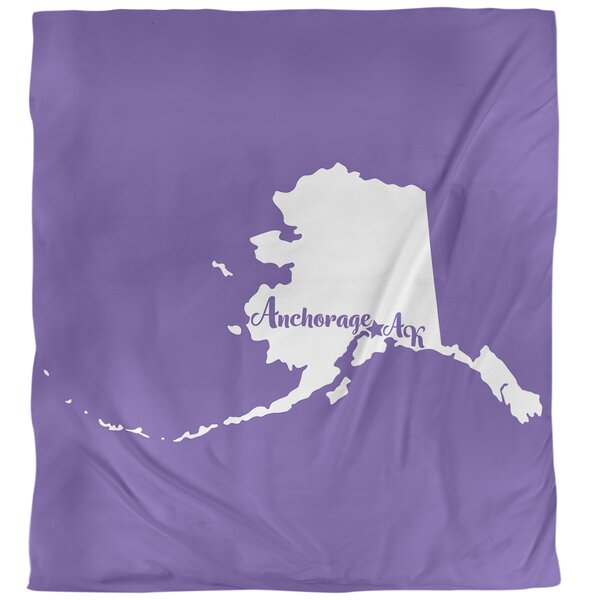 Anchorage Alaska Single Duvet Cover