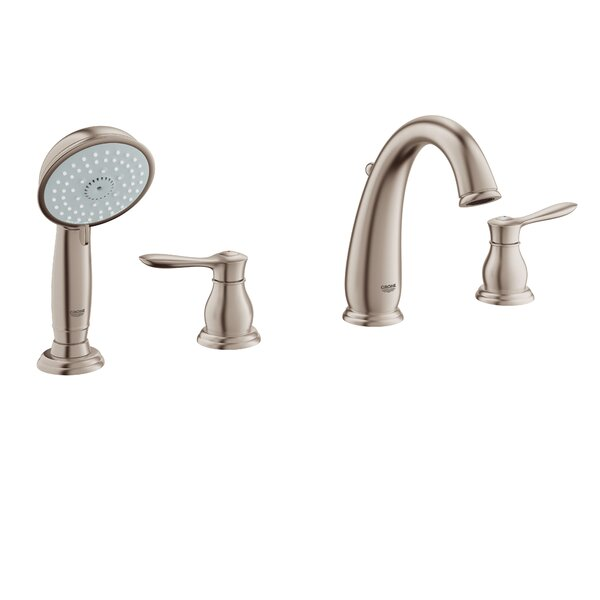 Parkfield Deck Mounted Roman Tub Faucet with Handshower by Grohe