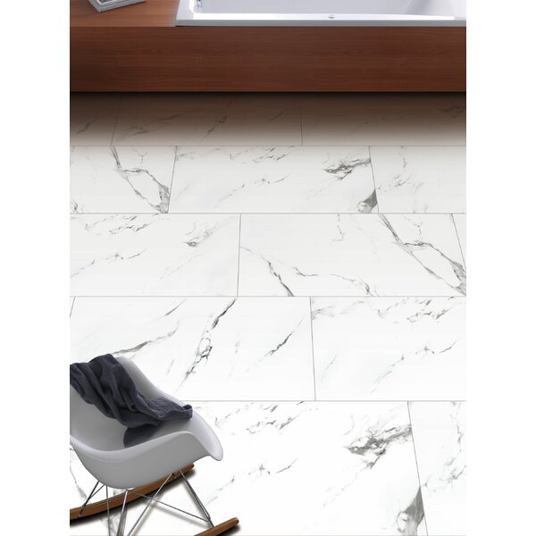 Statuario 24 x 48 Porcelain Field Tile in White
