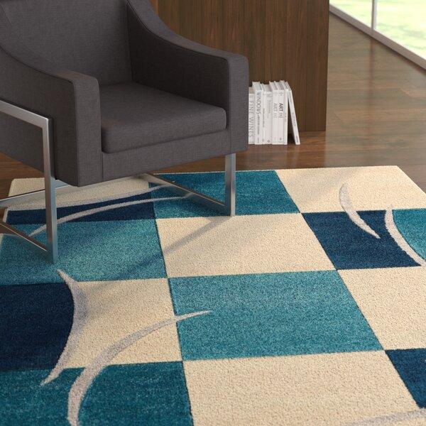 Herring Blue Area Rug by Ebern Designs