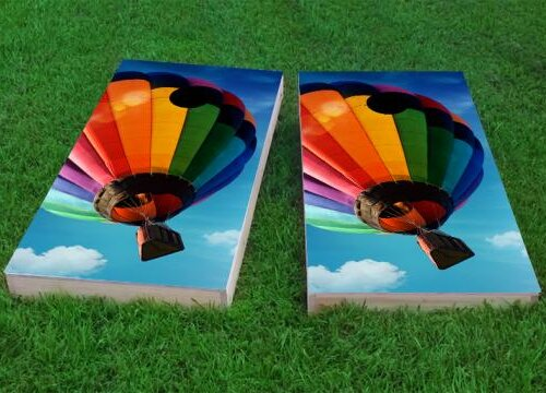 Hot Air Balloon Cornhole Game (Set of 2) by Custom Cornhole Boards