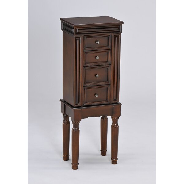 Helmsley Free Standing Jewelry Armoire with Mirror by Alcott Hill Alcott Hill