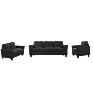 Ninnekah 3 Piece Living Room Set by Winston Porter