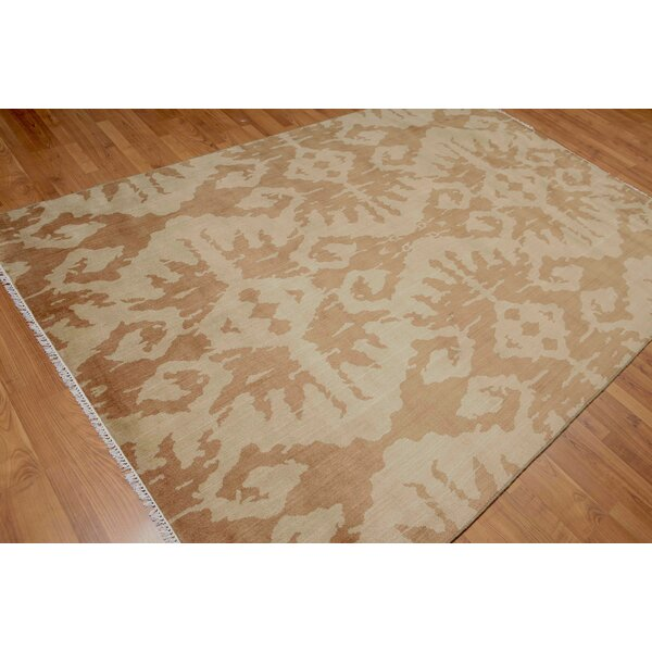 One-of-a-Kind Pumphrey Hand-Knotted Wool Brown/Beige Area Rug by Bloomsbury Market
