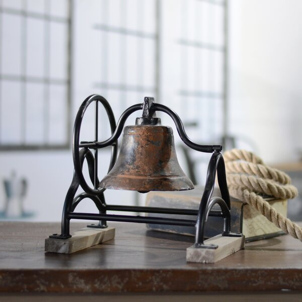 Vintage Vibe School Bell Sculpture by American Mercantile