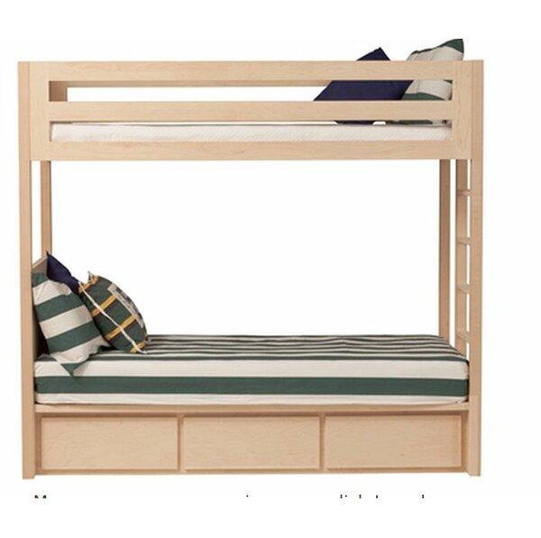 Kadon Twin over Twin Bunk Bed with Storage in Cherry Wood Veneer by Orren Ellis