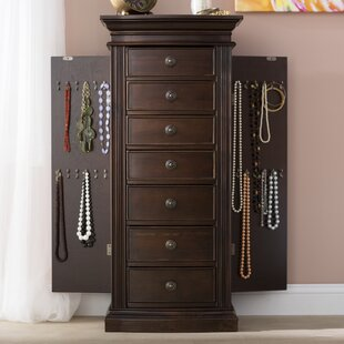 Incroyable Aitkin Jewellery Armoire With Mirror