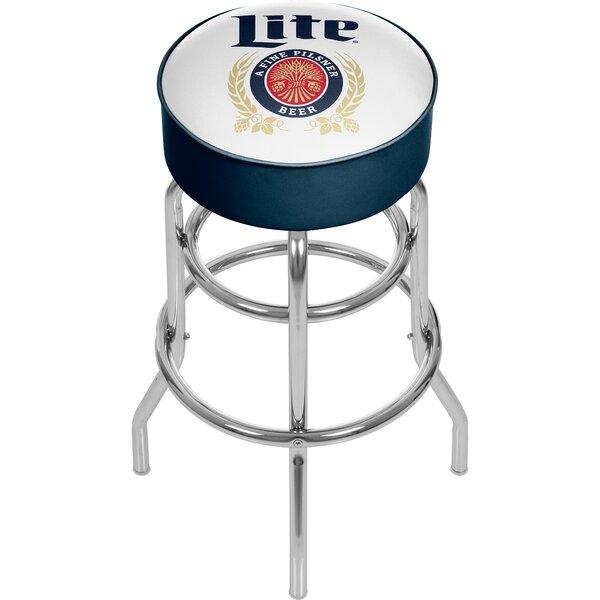 Miller Lite Retro 31 Swivel Bar Stool by Trademark Global
