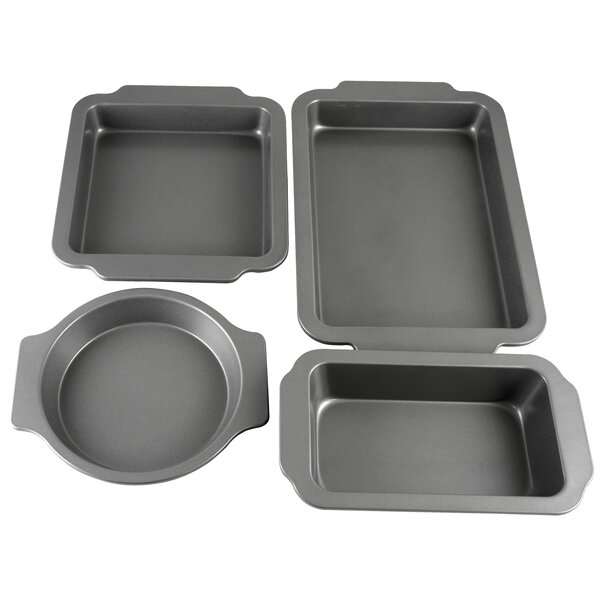 Baking Shop Non-Stick 4 Piece Bakeware Set by Oster