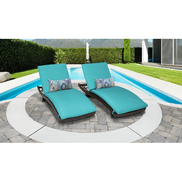 Medley Sun Lounger Set with Cushion (Set of 2) by Rosecliff Heights