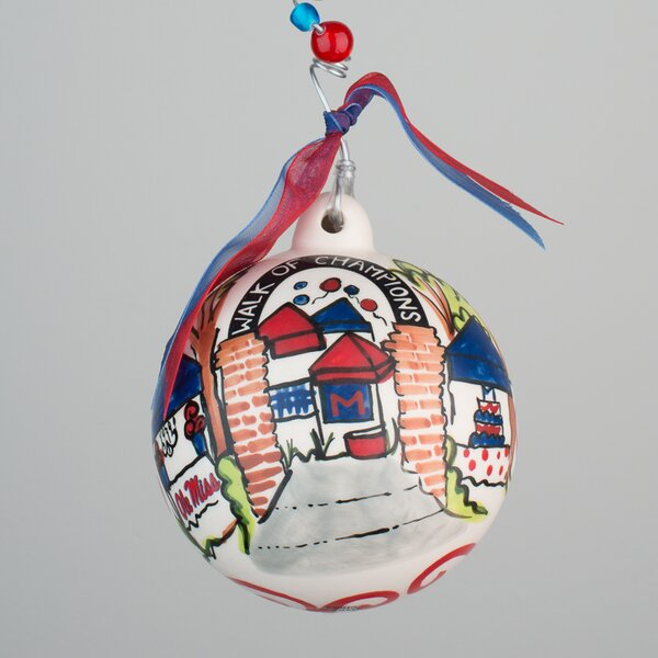 Ole Miss Grove Ball Ornament by Glory Haus