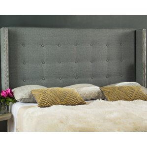 Charlotta Traditional Queen Upholstered Wingback Headboard by Willa Arlo Interiors