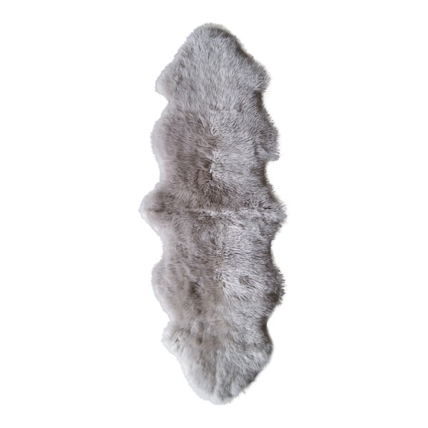 Hand-Tufted Taupe Sheepskin Area Rug by Natural Rugs