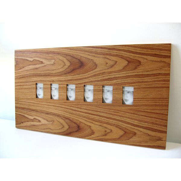 Six Slot Wood Picture Frame by Boom Design