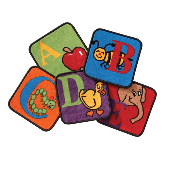 Reading by the Book Squares Alphabet Area Rug (Set of 26) by Carpets for Kids