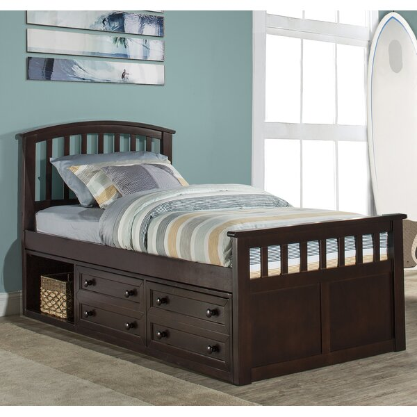 Javin Panel Bed with Drawer by Harriet Bee