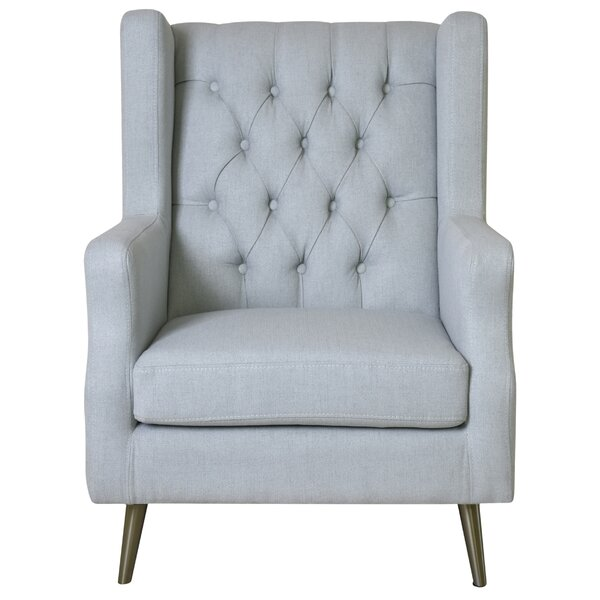 Thomas Wingback Chair by Pasargad Pasargad