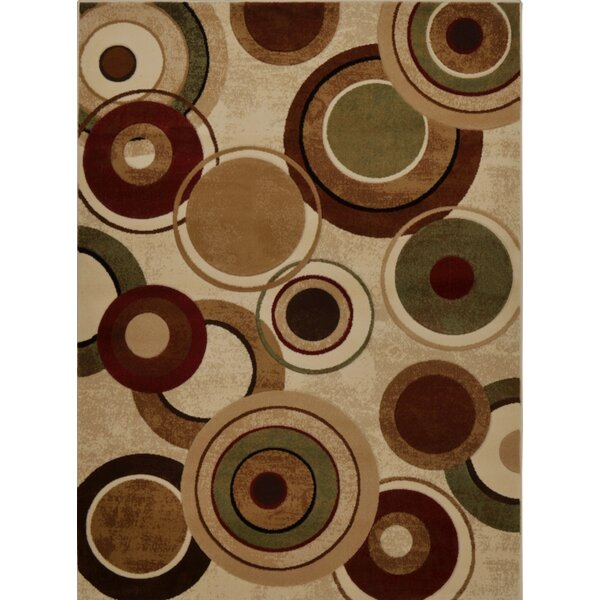 Collinsworth Earthtoned Circles 3 Piece Rug Set by Red Barrel Studio