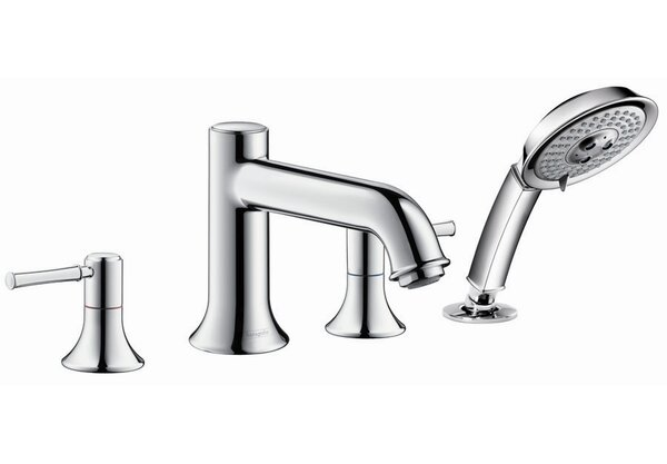Talis C Two Handle Deck Mounted Roman Tub Faucet with Hand Shower by Hansgrohe