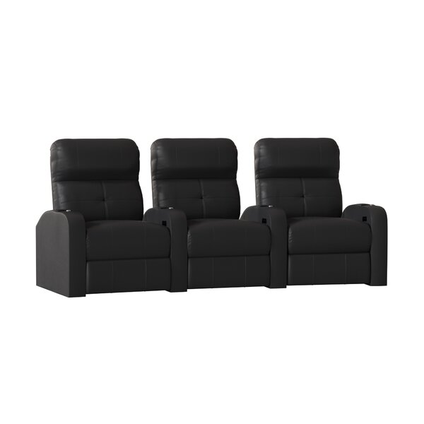 Home Theater Curved Row Seating (Row Of 3) By Latitude Run
