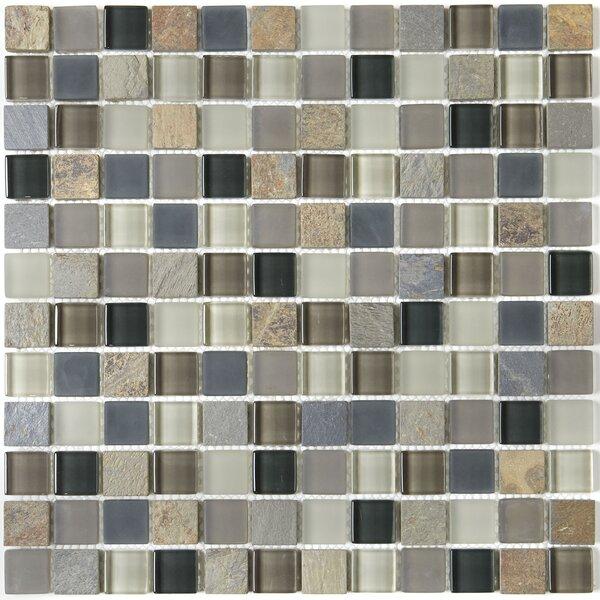 Pelham 12 x 12 Mixed Material Mosaic Tile in Flint by Itona Tile