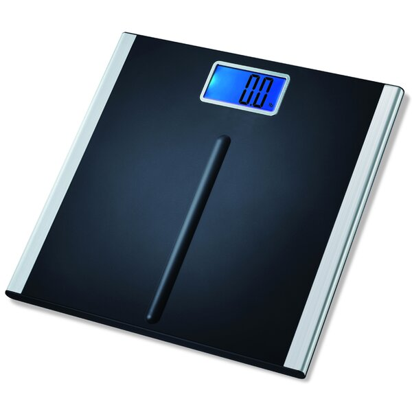 Precision Premium Digital Bathroom Scale in Black by EatSmart