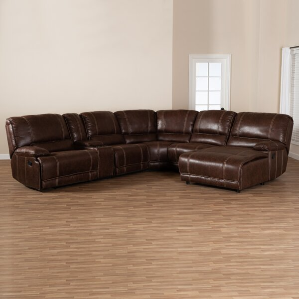 Free S&H Silvio Left Hand Facing Reclining Sectional