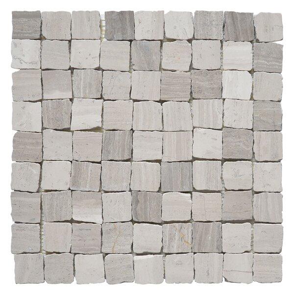 Rabat Patio 1.25 x 1.25 Marble Mosaic Tile in Gray by Matrix Stone USA