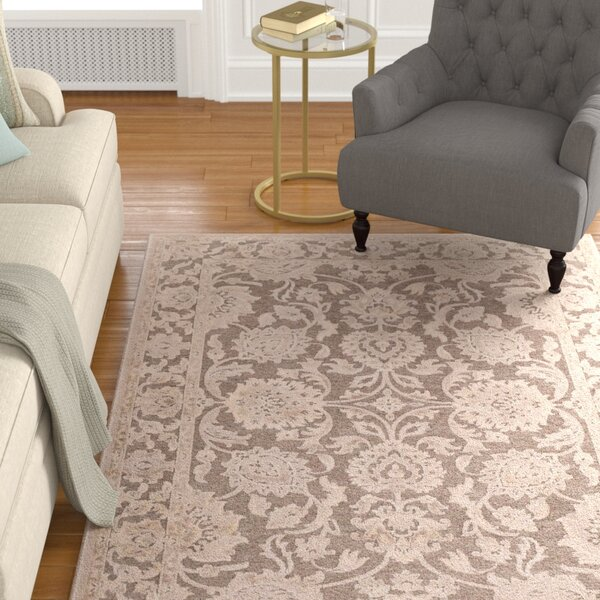 Mailou Gray & Parchment Area Rug by Charlton Home